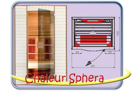 Chaleur Sphera infra szauna
