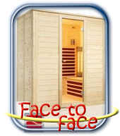 Face to face infra szauna